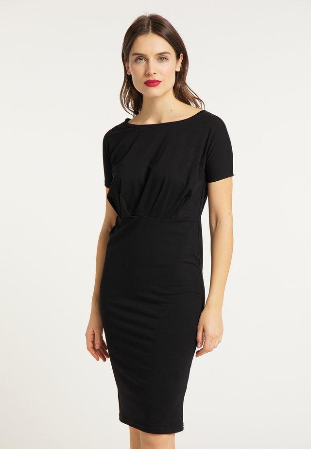 KLEID - Shift dress - schwarz