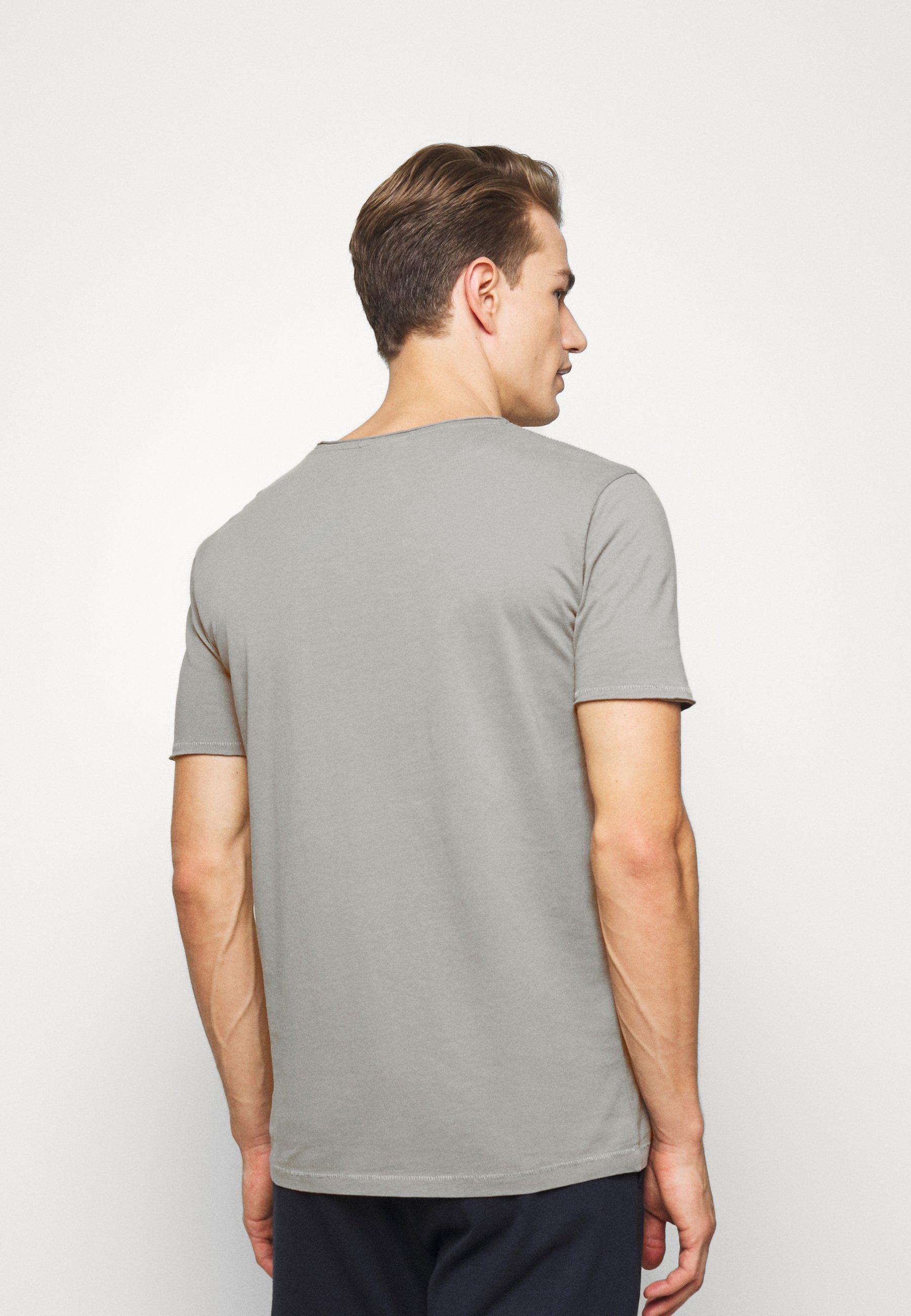 Lindbergh WASHED TEE - Basic T-shirt - grey YtRyx