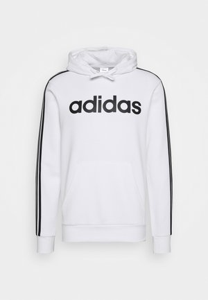 3 STRIPES ESSENTIALS SPORTS HOODED - Mikina s kapucí - white/black