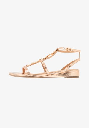 SHERWOOD - Wedge sandals - gold