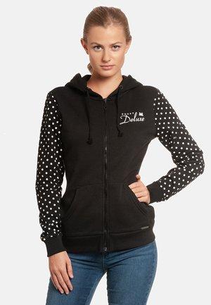 Zip-up hoodie - schwarz allover