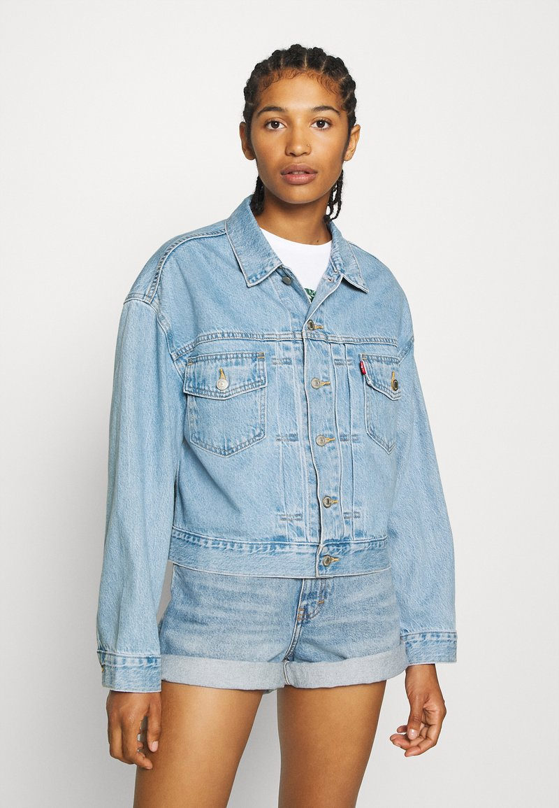 Levi's® - NEW HERITAGE TRUCKER - Denim jacket - light blue denim