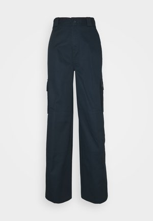 UTILITY - Broek - rinsed dark navy
