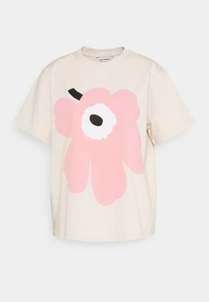 VAIKUTUS UNIKKO - T-shirts med print - beige/rose
