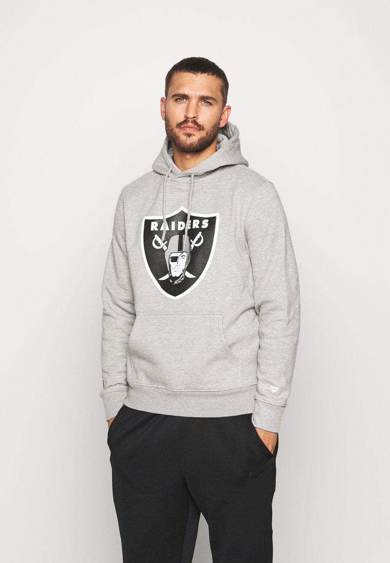 Fanatics - NFL OAKLAND RAIDERS ICONIC SECONDARY COLOUR LOGO GRAPHIC HOODIE - Bluza z kapturem - grey marl