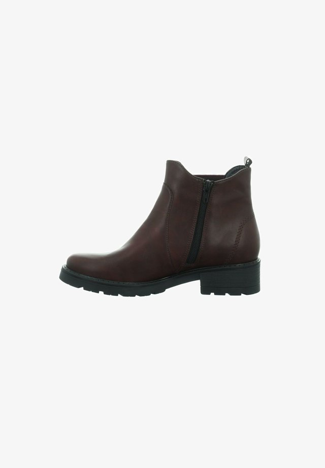 Classic ankle boots - bordo