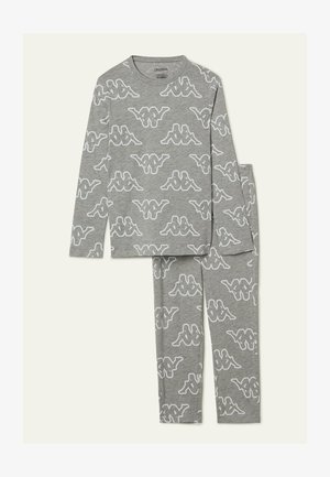 BAUMWOLLE KAPPA - Pyjama set - grau - 129u - light grey blend k print