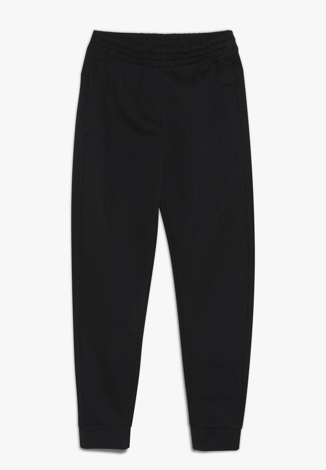 YOUNG GIRLS ESSENTIALS LINEAR SPORT PANTS - Teplákové kalhoty - black/white