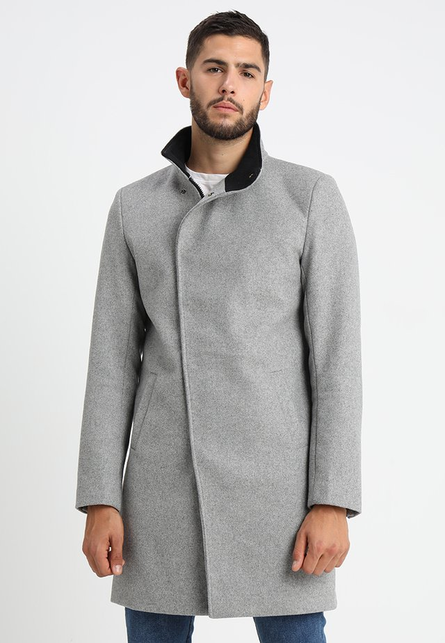 ONSOSCAR COAT - Wollmantel/klassischer Mantel - light grey melange