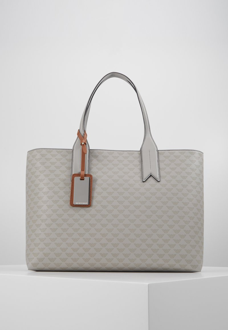Emporio Armani - SOFT LOGO SHOPPER - Tote bag - grigio/blue