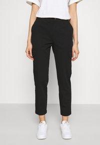 Even&Odd - Cargo Chino pants - Tygbyxor - black - 0