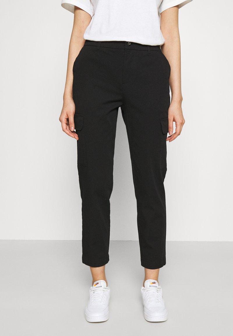 Even&Odd - Cargo Chino pants - Tygbyxor - black