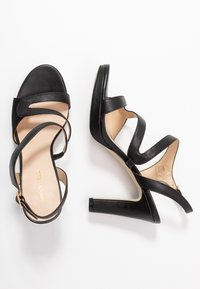 Anna Field - LEATHER HIGH HEELED SANDALS - Højhælede sandaletter / Højhælede sandaler - black - 3