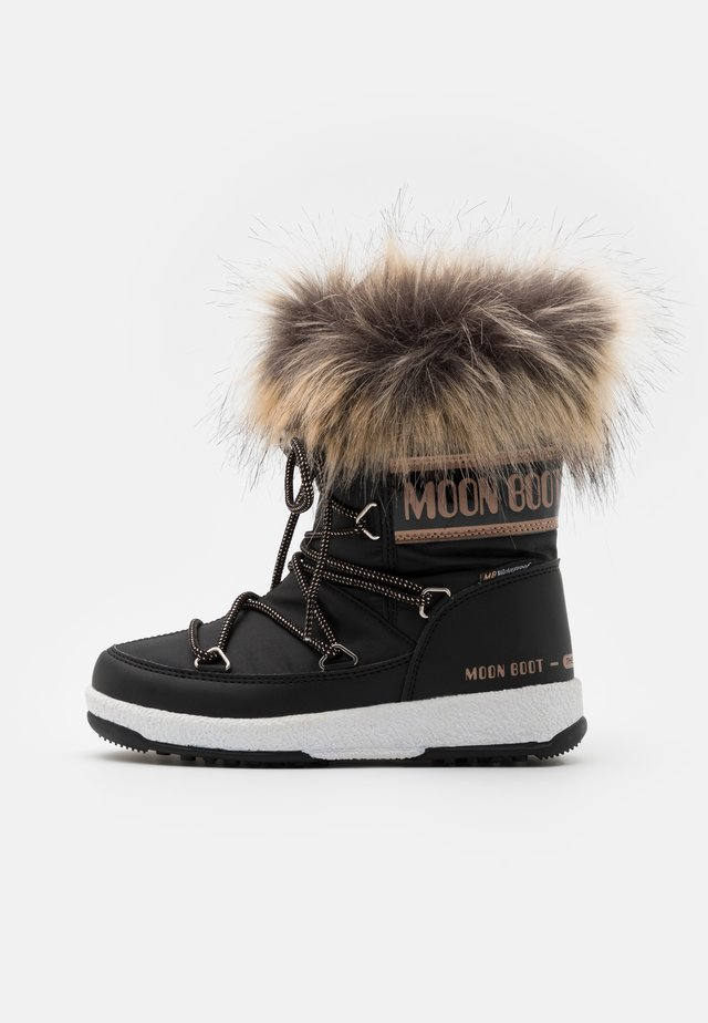 JR GIRL MONACO LOW WP - Botas para la nieve - black/copper