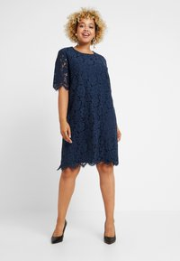 Glamorous Curve - SHIFT DRESS - Cocktail dress / Party dress - navy - 2