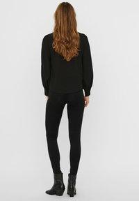 Vero Moda - VMAYA PLEAT  - Button-down blouse - black - 2