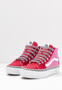 Vans - SK8 PLATFORM  - Sneakers hoog - chili pepper/fuchsia pink - 4