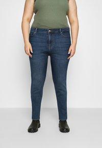 Pieces Curve - PCLILI - Slim fit jeans - medium blue denim - 0