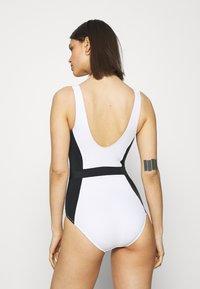 Marks & Spencer London - COLOUR BLOCK - Swimsuit - white mix - 2