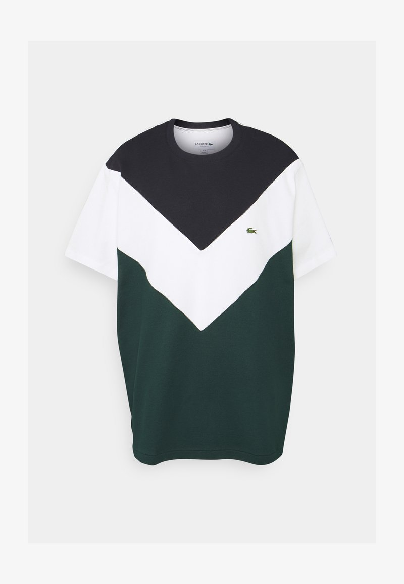 Lacoste - PLUS  - Print T-shirt - sinople/flour abysm