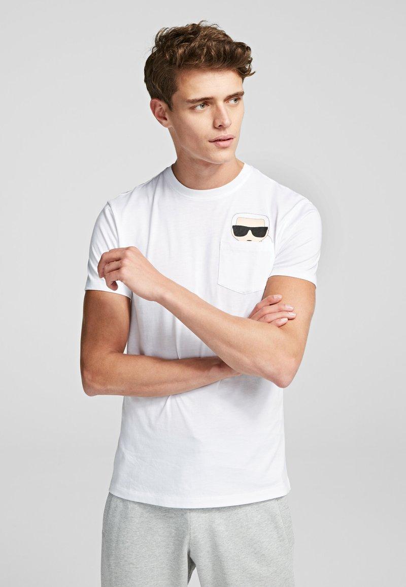 KARL LAGERFELD - Print T-shirt - white