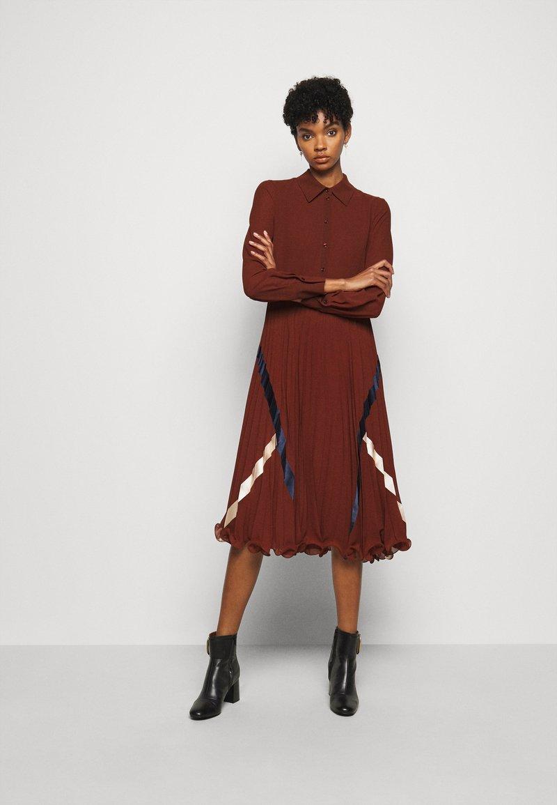See by Chloé - Shirt dress - sepia brown