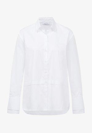 Button-down blouse - weiss uni