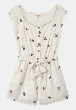 BEST BACK RUFFLE ROMPER - Jumpsuit - white