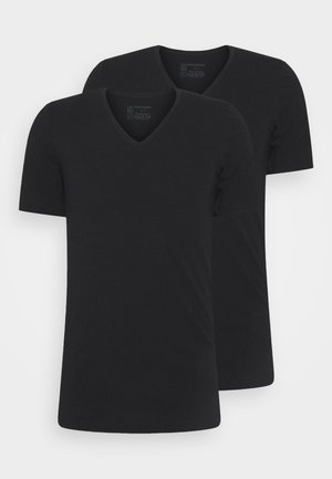 2PACK Unterhemd Organic Cotton V-Ausschnitt - 95/5 Original - Undertröja - schwarz