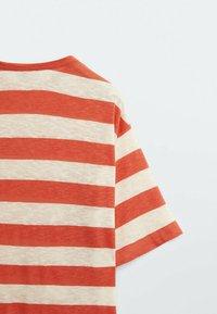 Massimo Dutti - Print T-shirt - red - 4