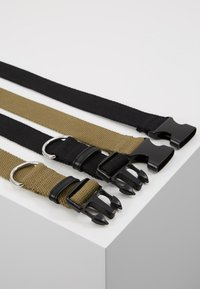 New Look - BUCKLE BELT 2 PACK - Skärp - black/dark khaki - 2