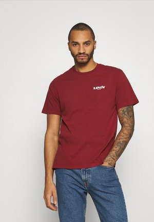 RELAXED FIT TEE UNISEX - Print T-shirt - reds