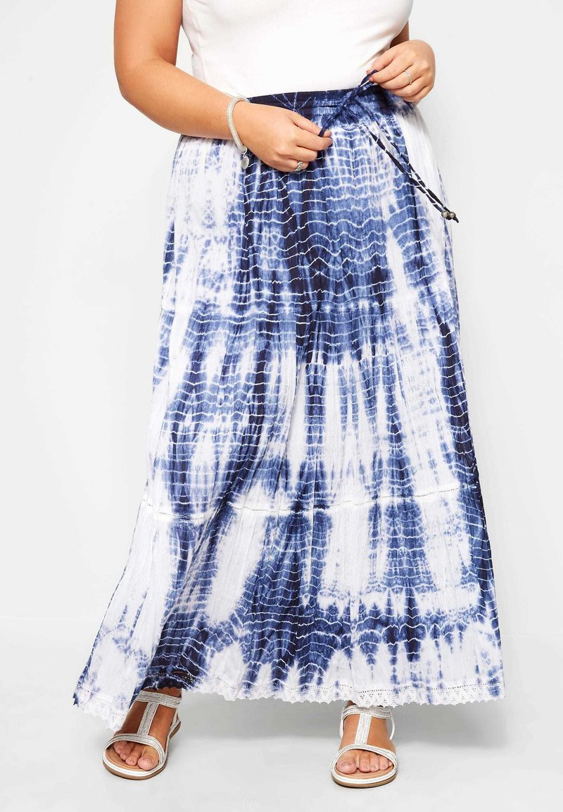 Yours Clothing - Pleated skirt - blue