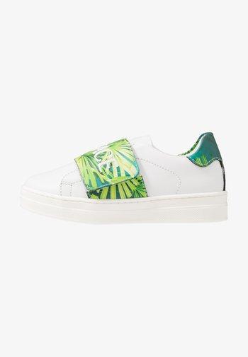 FLASH BAMBINO - Sneakers - bianco/multicolore verde