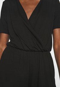 Anna Field - BASIC - SHORT SLEEVES DEEP V PLAYSUIT - Jumpsuit - black - 4