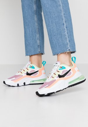 AIR MAX 270 REACT - Sneakers basse - light arctic pink/black/orange pulse/white/vapor green/oracle aqua