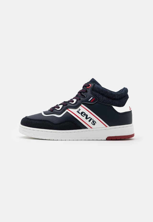IRVING MID - Baskets montantes - navy/red