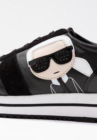 KARL LAGERFELD - VELOCITA IKONIC METEOR LACE - Sneakersy niskie - black - 2