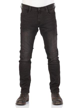 REAL X OREGON - Slim fit jeans - black denim