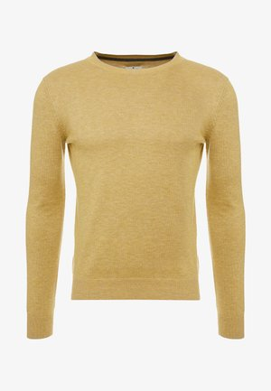 FINE STRIPED CREW-NECK - Sweter - yellow