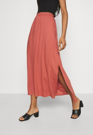 VMSIMPLY EASY SKIRT - Maxi skirt - marsala