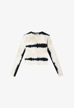 MIT TIE-DYE  - Bluzka z długim rękawem - white