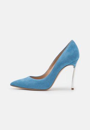 JOLLY BLADE - Classic heels - juliet blue/argento