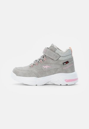 Lace-up ankle boots - vapor grey/frost pink