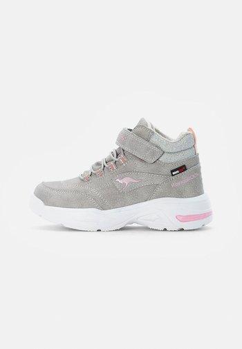 Schnürstiefelette - vapor grey/frost pink