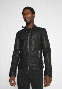 Goosecraft - GC ROSTOCK BIKER - Leather jacket - black - 0