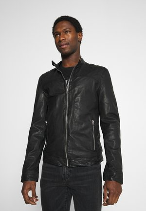 GC ROSTOCK BIKER - Leather jacket - black