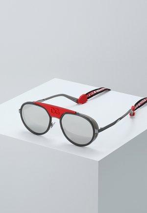 Sunglasses - gunmetal/transparent grey/light grey mirror silver