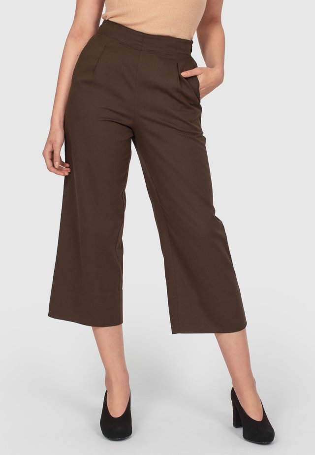 LOUNGE - Trousers - dark brown