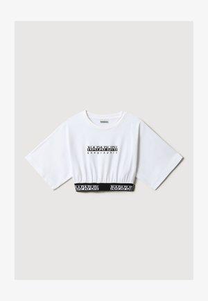 S BOX CROP WIDE - Camiseta estampada - bright white